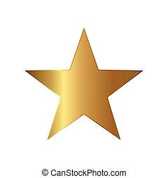 icône, étoile, illustration, or