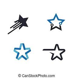 icône, étoile, logo, gabarit, vecteur