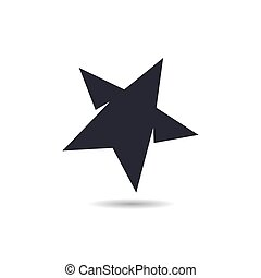 icône, étoile, vecteur, logo