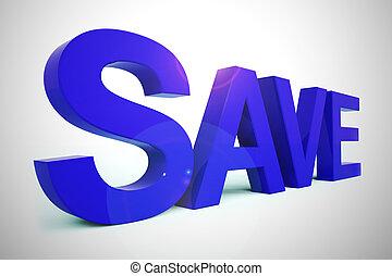 icône, -, 3d, moyens, concept, coût, illustration, bon, escomptes, réduit, sauver, affaire