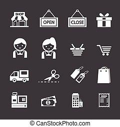 icône, achats