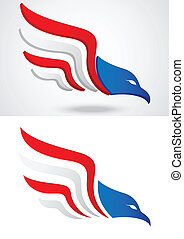 icône aigle, américain