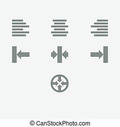 icône, alignement