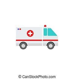 icône, ambulance, véhicule
