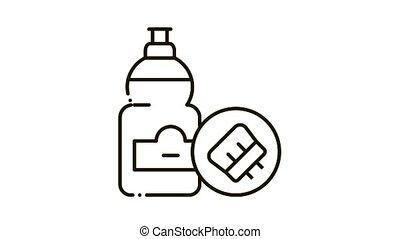 icône, animation, bouteille, liquide