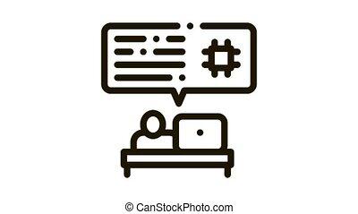icône, animation, code, programmation