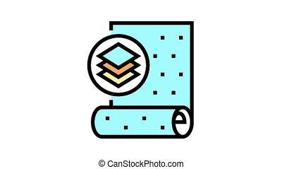 icône, animation, couleur, papier peint, non-woven