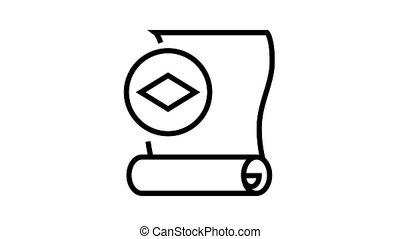 icône, animation, ligne, papier, papier peint