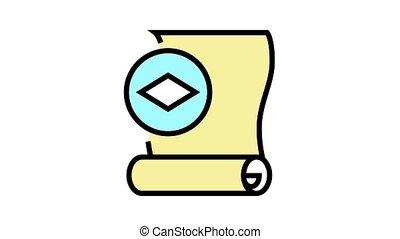 icône, animation, papier couleur, papier peint