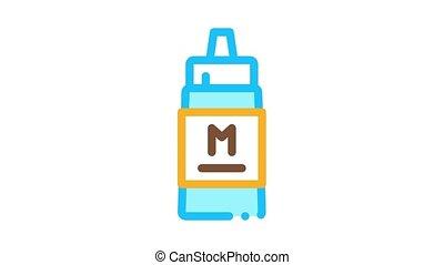 icône, animation, sauce, serre, mayonnaise, bouteille