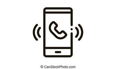icône, animation, smartphone