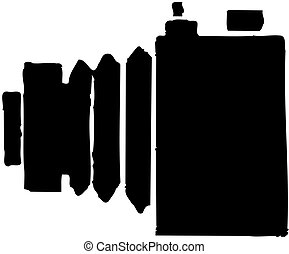icône, appareil photo, retro