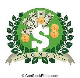 icône, argent