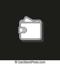 icône, argent, vecteur, bourse, portefeuille