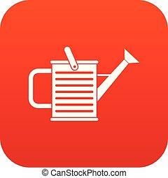 icône, arrosoire, rouges, numérique