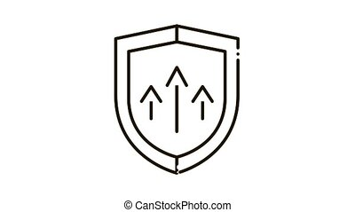 icône, augmenté, animation, protection