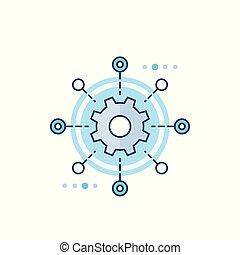 icône, automation, logiciel, essai, vecteur