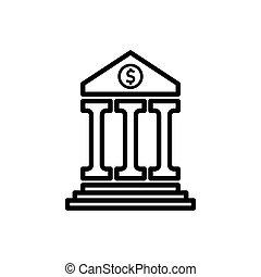 icône, banque