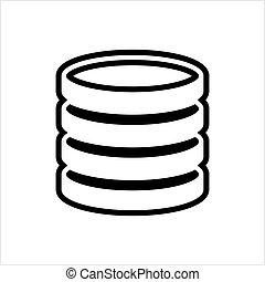 icône, base données, base, données, icône