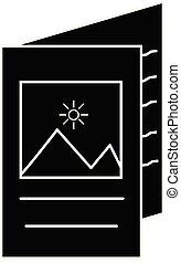 icône, blanc, conception, app, catalogue, brochure, symbole, ui., ton, branché, style, arrière-plan., site, plat, livret, toile, logo, signe.