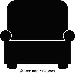 icône, blanc, conception, fauteuil, app, sofa, meubles, ui., style., ton, arrière-plan., site, plat, toile, logo, signe.