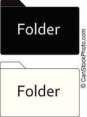 icône, blanc, fichier, conception, dossier, app, noir, ui., style., ton, arrière-plan., site, plat, toile, logo, signe.