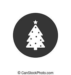 icône, blanc gris, arbre, vecteur