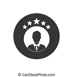 icône, blanc, isolé, classement, gris, vecteur
