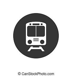 icône, blanc, train, symbole, gris, vecteur