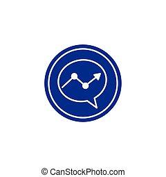 icône, bloc, social, conception, plat, bulle, isolé, média