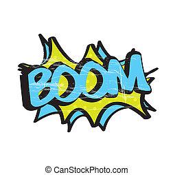 icône, boom