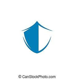icône, bouclier, symbole, gabarit, vecteur, illustration