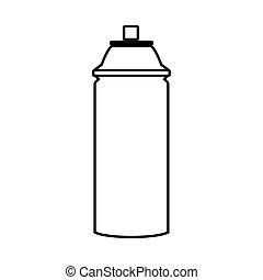 icône, bouteille, aérosol, isolé, pulvérisation