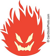 icône, brûler, figure