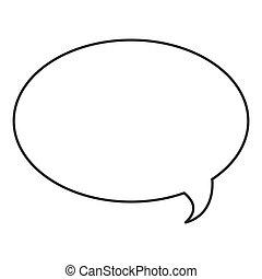 icône, bulle, conversation