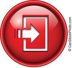 icône, button., entrer