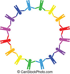 icône, c, vecteur, coloré, gens