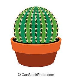 icône, cactus, mignon