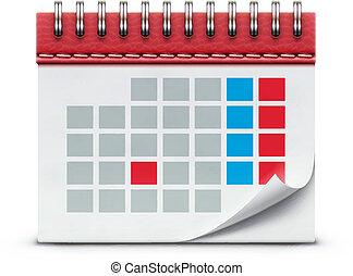 icône, calendrier