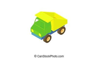 icône, camion, animation, jouet