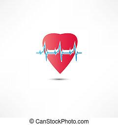 icône, cardiogramme