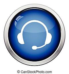icône, casque à écouteurs