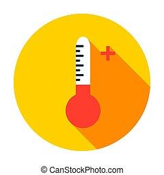 icône, cercle, haute température