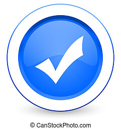 icône, chèque, accepter, signe