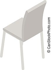 icône, chaise, isométrique, style, cuisine