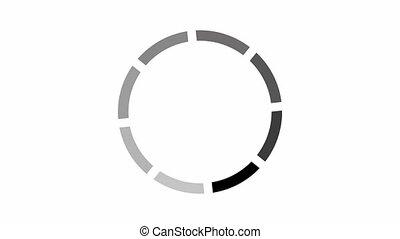 icône, chargement, cercle, blanc, arrière-plan animation