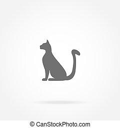 icône, chat
