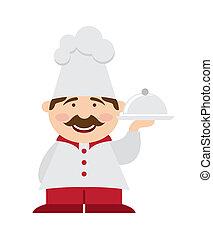 icône, chef cuistot