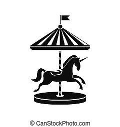 icône, chevaux carrousel