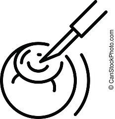 icône, chirurgie, oeil, style, contour